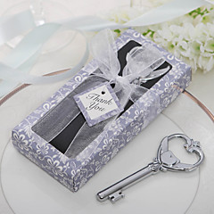 """Chrome Bottle Favor-1Piece/Set Bottle Openers Classic Theme Non-personalised Silver 3 1/2"""" x 1 1/2"""" (8.9*3.8cm)Gift box with a organza"""