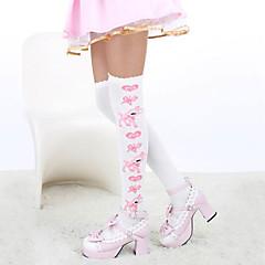 Sokken en kousen Schattig Lolita Lolita Wit / Roze / Blauw Lolita Accessoires Kousen Print  Voor Dames Katoen