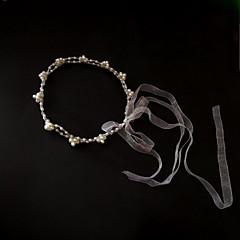 Femme Tulle / Imitation de perle Casque-Mariage / Occasion spéciale / Décontracté Serre-tête