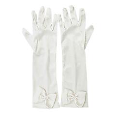 Albuelængde Fingerdupper Handske Elastisk satin Blomsterpigehandsker Forår / Sommer / Efterår / Vinter Rosette