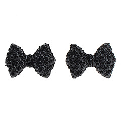 Bowknot Full Diamond Stud Earrings