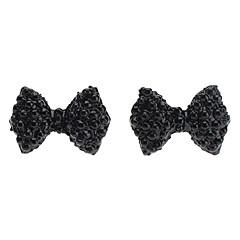 עגילי יהלומים מלאים bowknot