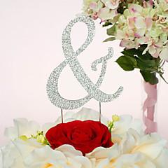 Cake Topper Non-personalized Chrome Wedding / Anniversary / Quinceañera & Sweet Sixteen / Birthday Rhinestone Classic Theme PVC Bag