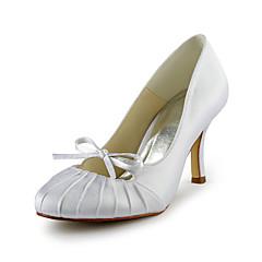 Women's Spring / Summer / Fall / Winter Heels Satin / Stretch Satin Wedding Stiletto Heel RuchedBlack / Blue / Pink / Purple / Red /