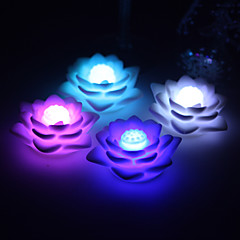 Wedding Décor Nice Vinyl Lutos LED Lamp - Set of 4 (Color Changing, Built-in Botton Cell)