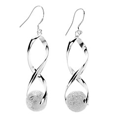 S-shaped Frosted Ball Earrings
