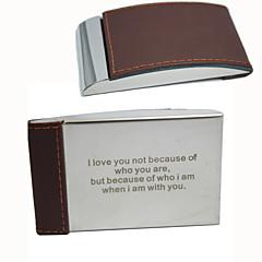 חתן / שושבין חתן מתנות חתיכה / סט מחזיקי כרטיסי ביקור יצירתי חתונה / יום שנה / יומהולדת / עסקים סגסוגת אבץ מותאם אישית מחזיקי כרטיסי ביקור