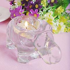Glass Elephant Candle Holder