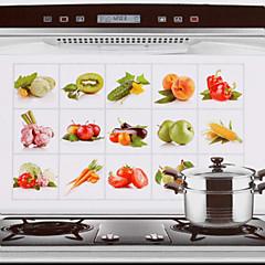 75x45cm Früchte& Gemüse Muster öldicht wasserdicht warmfest Küchenwandaufkleber