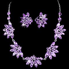 Takı Seti Kadın's Doğumgünü / Hediye / Parti / Özel Anlar Mücevher Setleri alaşım Yapay Elmas / Kübik Zirconia Kolyeler / Kolczyki