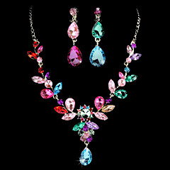 Jewelry Set Women's Birthday / Gift / Party / Special Occasion Jewelry Sets Alloy Rhinestone / Cubic Zirconia Necklaces / EarringsAs the