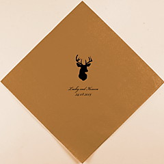 Personalized Wedding Napkins Deer Head(More Colors)-Set of 100