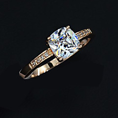 Ring Women's Crystal Rose Gold Plated Rose Gold Plated Love 6 / 7 / 8 As the PictureColor & Style representation may vary by monitor. Not