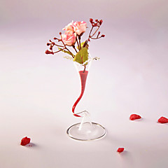 Table Centerpieces Small Pretty Waist Glass Vase With Colorized Sand  Table Deocrations