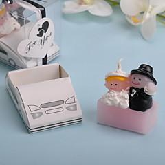 מכונית חתונה נרות 1 חלקי סט