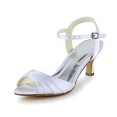Dames Bruiloft Schoenen Slingback Sandalen Huwelijk Zwart/Paars/Ivoor/Zilver/Goud/Champagne/Blauw/Roze/Rood/Wit