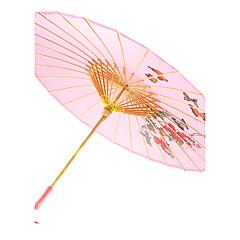 """アジア風テーマ / フローラルテーマサンダルウッド-日傘(ピンク)春 / 夏 直径22 4/5の """"LX 33 1/2""""(直径58センチメートル長い×85センチメートル) 22 4/5の直径で """"LX 2""""(直径58センチメートル長い×5センチメートル)"""