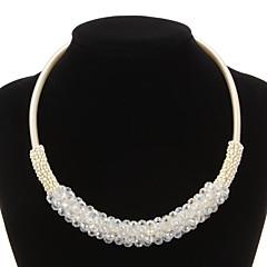 Luxuriöse Seil mit Perlen Damen-Halskette