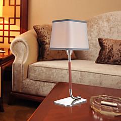 Modern Grau strukturiertes Gewebe Nicked Tischleuchte
