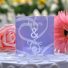 Tortenfiguren & Dekoration individualisiert Kristall Hochzeit / Jubliläum Lila Blumen Thema / Klassisches Thema Geschenkbox