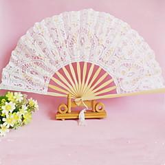 Spitze Ventilatoren und Sonnenschirme Stück / Set Handfächer Klassisches Thema Weiß 42cmx23cmx1cm