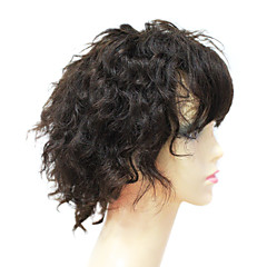 Volle Spitze 100% Echt Remy Haar kurzes, krauses Haar Perücke