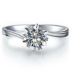 Prstýnky Dámské Diamant Stříbrná / Sterlingové stříbro / Pokovená platina Stříbrná / Sterlingové stříbro / Pokovená platina láska5 / 6 /