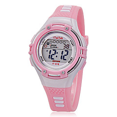 Kids' Watch Multi-Functional  Round Dial Rubber Band Strap Watch LCD Digital Wrist Watch (Assorted Colors) Cool Watches Unique Watches Fashion Watch