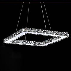 10W Plafond Lichten & hangers ,  Hedendaags Galvanisch verzilveren Kenmerk for Kristal / LED Metaal Slaapkamer / Eetkamer / Keuken