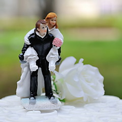 Cake Topper Non-personalized Classic Couple / Sport Resin Wedding White / Black Classic Theme Gift Box