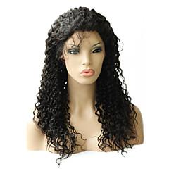 Kinky ricci peruviana di Remy parrucca piena del merletto 20inch Super
