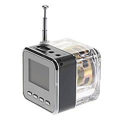 Куб Стиль Медиа спикер с FM-радио, SD Card Поддерживаемые (разных цветов)