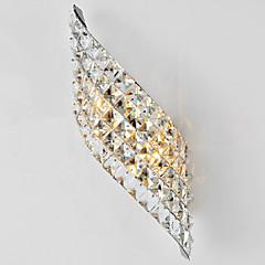 kristallen wandlamp, 2 licht, modern incisie galvaniseren temperen