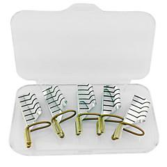 5pcs herbruikbare zilveren metalen nail art formulieren voor acryl en uv-gel tips