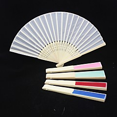 Yksivärinen Raw Silk Hand Fan (More Colors)