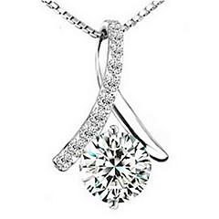 Eleganta Tassel kvinnors Slivery Alloy Halsband (1 st)