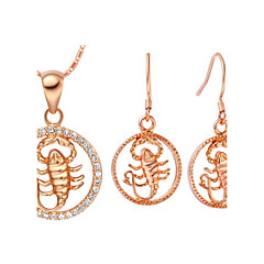 Jewelry Set Women's Anniversary / Birthday / Gift / Party / Daily / Special Occasion Jewelry Sets Gold / Silver Cubic ZirconiaNecklaces /