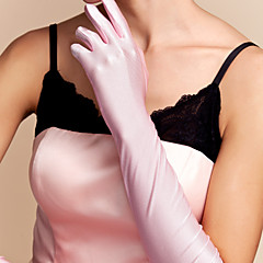 Elbow Length Fingertips Glove Spandex Bridal Gloves Spring Summer Fall Winter
