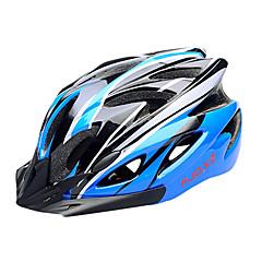 FJQXZ EPS + PC azul e preta Integralmente-moldados Capacete de Ciclismo (18 Vents)