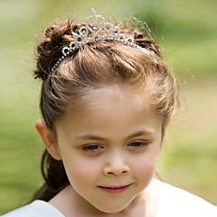 Flower Girl's Rhinestone Alloy Headpiece-Wedding Special Occasion Tiaras Headbands