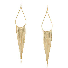 Damen Ohrring Gold Ohne Stein Drop Earrings