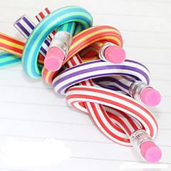 flexible bunten weichen Bleistift mit Radiergummi (zufällige Farbe)