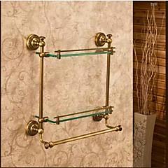 Fürdőszobai polc / Antik bronz Üveg /Antik