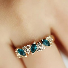 Sweet Diamond Emerald Fashion Rings