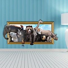 3D The Animal  Wall Stickers Wall Decals