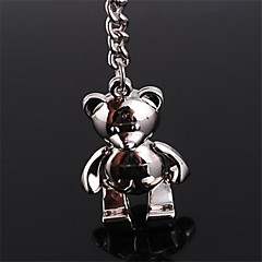 Beautiful Guitar Personalities Teddy Bear Creative Key Stainless Steel Keychain