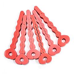 6Pcs zachte spons Key Shaped Hair Care Roller Set