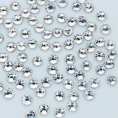 1440pcs 2mm glitter kristalli strassi kynsikoristeet koriste