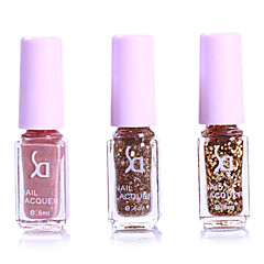 3PCS Golden Gradient&Glitter Sequins Nail Polish Set(6ML)