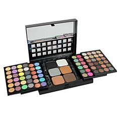ammatillinen 78 väri muodostavat paletti 72 väriä luomiväri + 6 väriä säätiö puuteri siveltimellä meikki setti